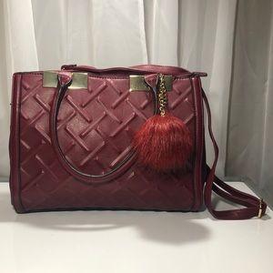 Aldo Handbag Burgundy Medium Sized
